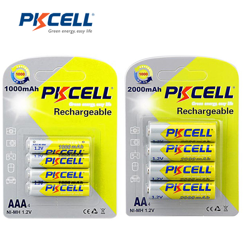 1.2V Ni-MH Rechargeable Batteries 4Pcs 2000mAh AA Battery+4Pcs 1000mAh AAA Batteries(China (Mainland))