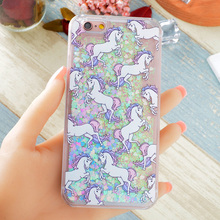 Buy Hot Fantastic Unicorn Animal Horse Case Dynamic Liquid Glitter Capa Phone Cases Cover iPhone 7 7Plus 4S 5S SE 5C 6G 6S 6Plus for $2.69 in AliExpress store