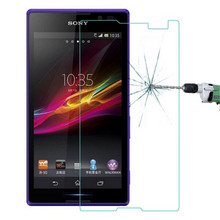 Premium Tempered Glass For Sony Xperia C S39H C2305 C2304 Dual Screen Protector 9H Protective Film With Retail Package