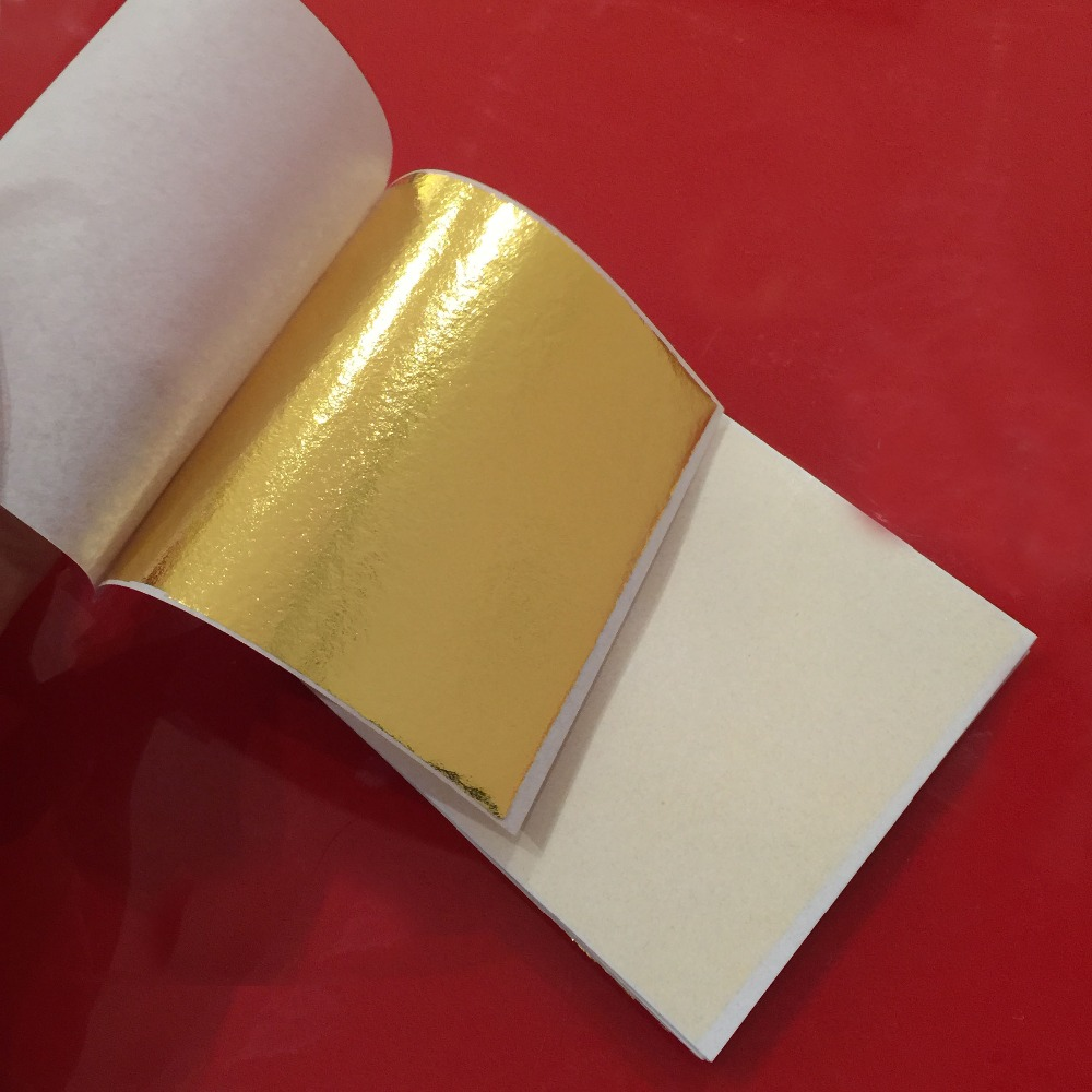 100 sheets 8 X 8.5cm Taiwan shiny Imitation gold leaf color like Color Closest To Genuine Gold free shipping(China (Mainland))