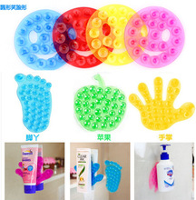 10pcs/lot New Strong Double Sided Suction Palm PVC Suction Cup, Double Magic Plastic Sucker Bathroom Free Shipping(China (Mainland))