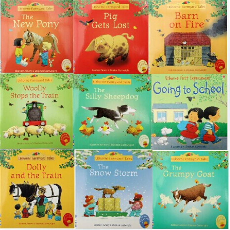 Original English 10books per set classic warm pictures story children books famous picture for kids-Farmyard Tales series<br><br>Aliexpress