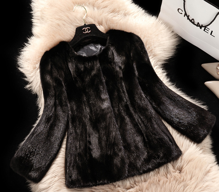 New Fashion 2016 Autumn Winter Women Fur Coat Faux Fur Coat Long Sleeve Fake Fur Coats Short Jacket Female Overcoat Size S-XXXL