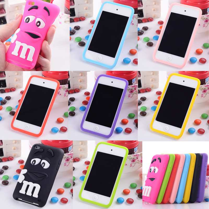 Soft Rubber Silicone Case Cover for Apple iPod Touch 4 4th 4 Gen 4G Wholesale Free Shiping(China (Mainland))