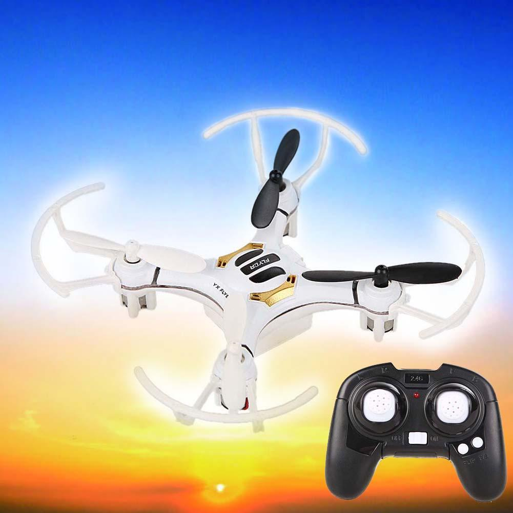 Mini White 4Ch 4 Axis 2.4G Nano RC Quadcopter Helicopters kvadrokopter Drones LED RTF Micro RC Quadrocopter Toys Gift USB Cable(China (Mainland))