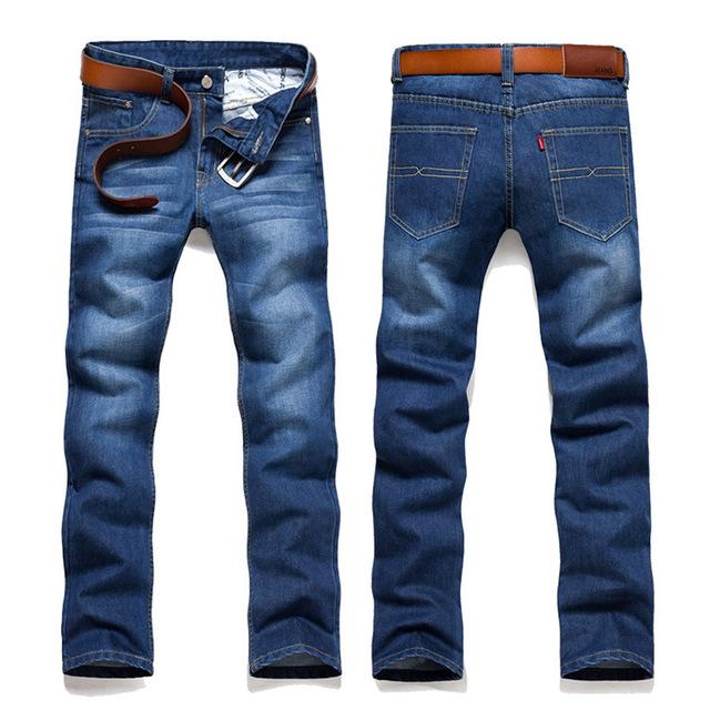 Джинсы брюки 2016 весной новинка мужчины полосой джинсы тонкой тощий свободного покроя ...