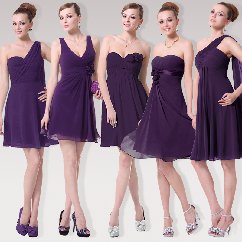 For Purple Bridesmaid Dress