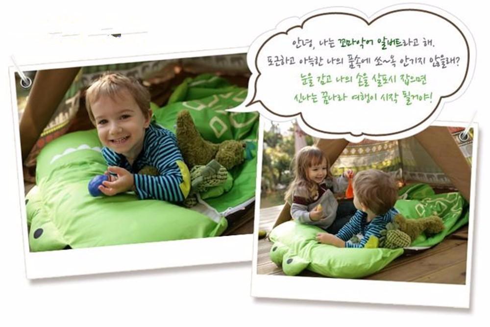 Скидки на Зима теплая дети детские ребенка спальный мешок младенческой новорожденных мультфильм форма съемный спящего ребенка спальный мешок