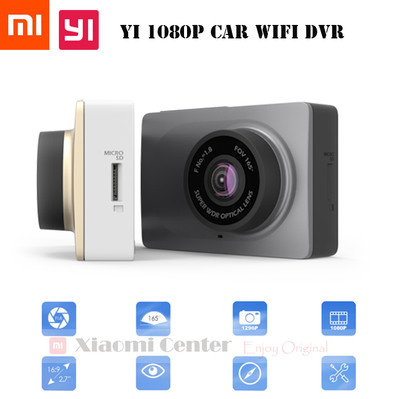 Original Xiaomi Yi Smart Car DVR, Xiaoyi WiFi 165 Degree Dash Cam 1080P 60fps 2.7 Inch 16:9 Camcorder Car Camera for Android&IOS(China (Mainland))