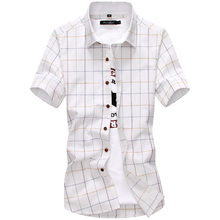Buy Red Black Plaid Shirt Men 2016 Summer Casual Dress Shirt Short Sleeve Chemise Homme Slim Fit Clothing Shirts Men for $8.18 in AliExpress store