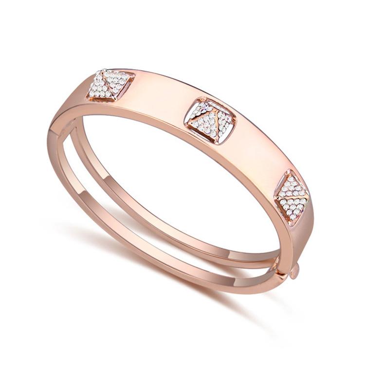 New Designs Crystal Bangles Bracelets Swarovski Elements CZ 18K Gold Women Brazaletes Pulseras Mujer Fashion Gift Jewelry(China (Mainland))