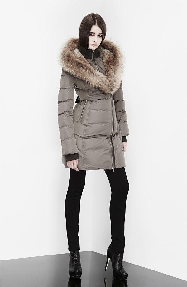 Fur Trim Coat Womens
