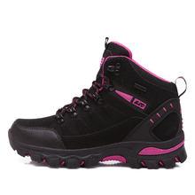 Zapatillas al aire libre zapatos de senderismo impermeables hombres mujeres cuero montaña Botas de senderismo par invierno Trekking senderismo zapatos de escalada(China)
