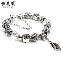 Free Shipping 925 Silver Heart Charm Bracelets Bangles for Women European beads fits Pandora Style bracelets PDR137(China (Mainland))