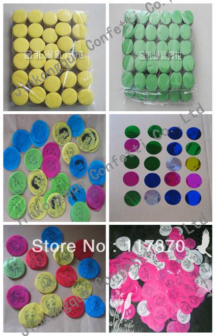sell confetti paper for confetti cannon /party paper/confetti/round paper(China (Mainland))