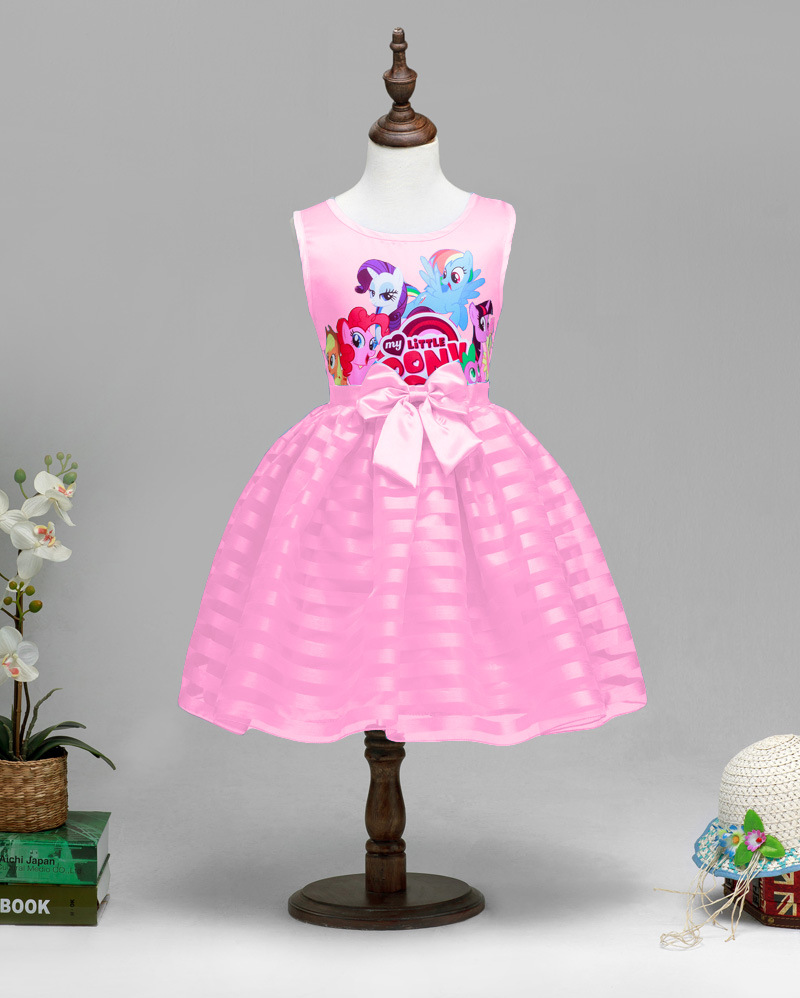 New 2016 Hot Sale Girls Little Pony Tutu Dress Princess Sleeveless Formal Dress New Children Baby Summer Clothing Free Shipping(China (Mainland))