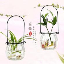 2 PCS/SET Hot nouveau mignon effacer verre citrouille forme fleur plante reposer suspendus Vase hydroponique bureau à domicile de mariage décoration de la maison(China (Mainland))