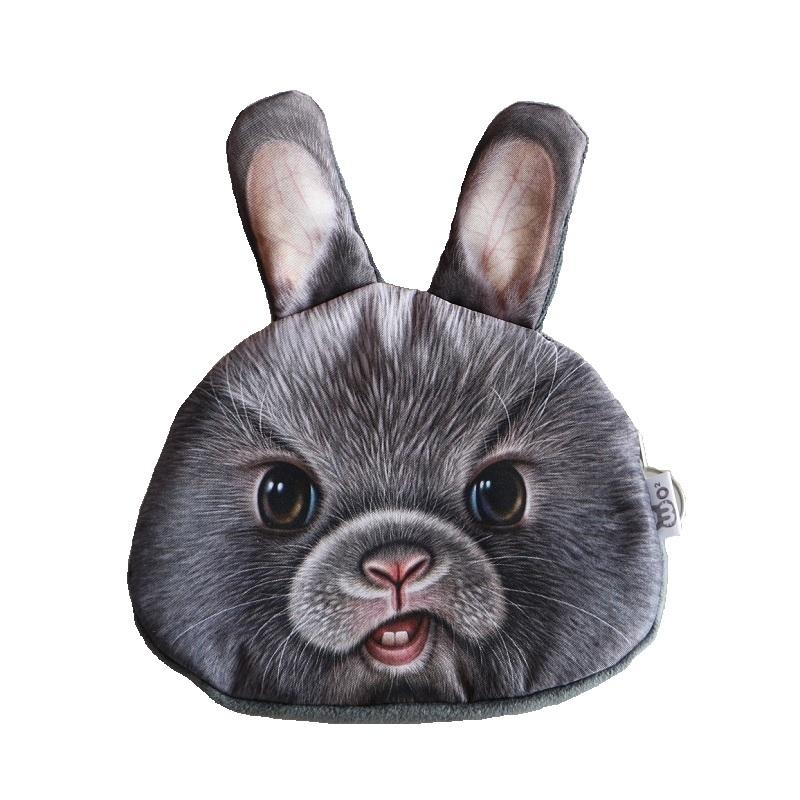 New Cute Cat / dog / Bear / rabbit face Coin purse kids wallet kawaii bag coin pouch childrens purses holder women coin wallet<br><br>Aliexpress