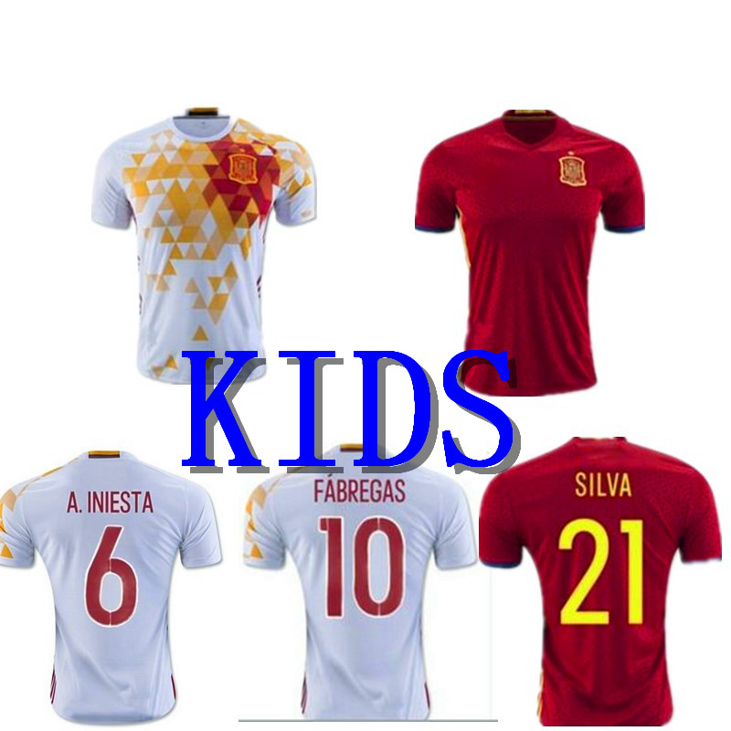 2016 good quality aaa + EURO home KIDS new survetement football soccer jerseys 16 maillot DE foot emblazoned on free shipping(China (Mainland))