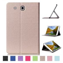 Business 3 folded Flip book Leather stand holder case cover for Samsung Galaxy Tab E 9.6 T560 SM-T560 T561