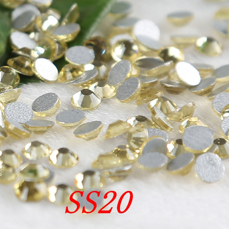 Light topaz SS20 1440pcs/lot Crystal Flatback Non Hotfix Rhinestone Nail Art Application Phone DIY watches pasted stones(China (Mainland))