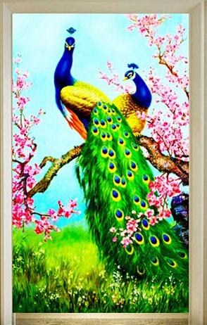 5D Diamond Embroidery Paintings Rhinestone Pasted diy Diamond painting Cross Stitch Kits lover Peacock diamond mosaic Room Decor(China (Mainland))