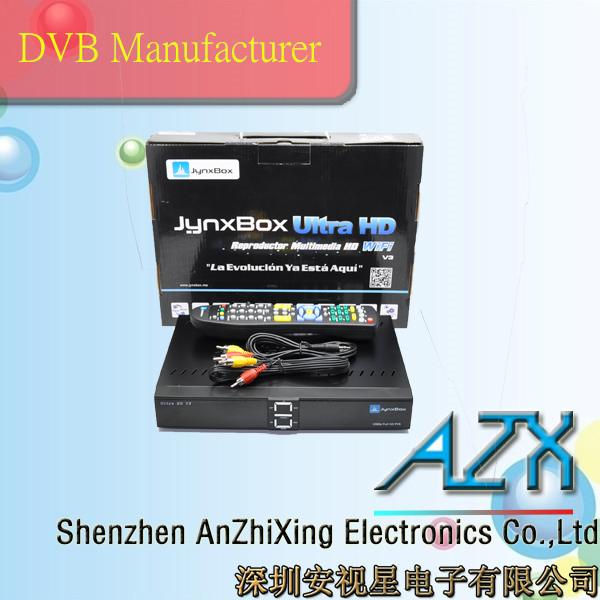 satellite dish tv decoder dvb s2 set top box ali 3606 full hd satellite receiver(China (Mainland))