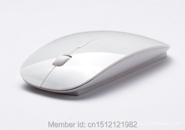 2014 New USB Optical 2.4G Mini ultrathin Wireless Mouse Receiver Super Slim Cordless Computer PC Laptop Desktop free shipping(China (Mainland))