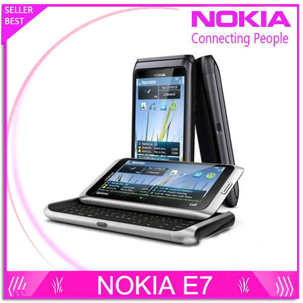 Free Shipping Original E7 Nokia Mobile Phone Camera 8MP GPS WIFI 16GB Storange Nokia Smart Phone(China (Mainland))
