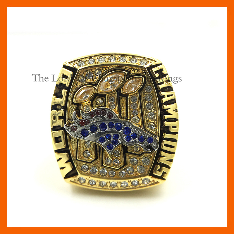 High Quality Cooper Ready Made 2015 Denver Broncos 50 Super Bowl Championship Ring Solid Replica Championship Ring(China (Mainland))