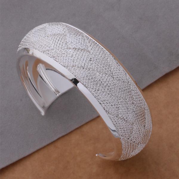 Hot sale Fashion Jewelry 925 sterling silver Bangles Cuff Bracelets Surface preparation of bracelets /bsgakjna deralvya AB147(China (Mainland))