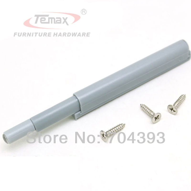 10pcs Plastic Drawer Stops Grey Push to Open System Door Catch Closer Damper Cabinet(China (Mainland))