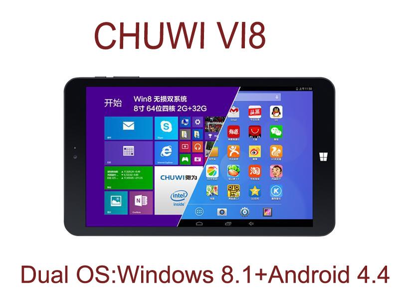 "8"" IPS 1280*800 CHUWI VI8 Dual OS Tablet Windows 8.1+Android 4.4 Intel Z3735F Quad Core 2GB/32GB Wifi Russian Multi Language(China (Mainland))"