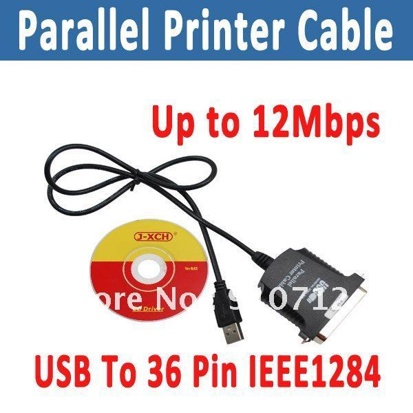 USB To 36 Pin IEEE1284 Parallel Printer Cable Up to 12Mbps free shipping(0211004)