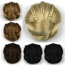 1PC 50g Synthetic Hair Hairpiece Chignons Braided Clip In Hair Bun Hair Chignon Donut Hair Roller