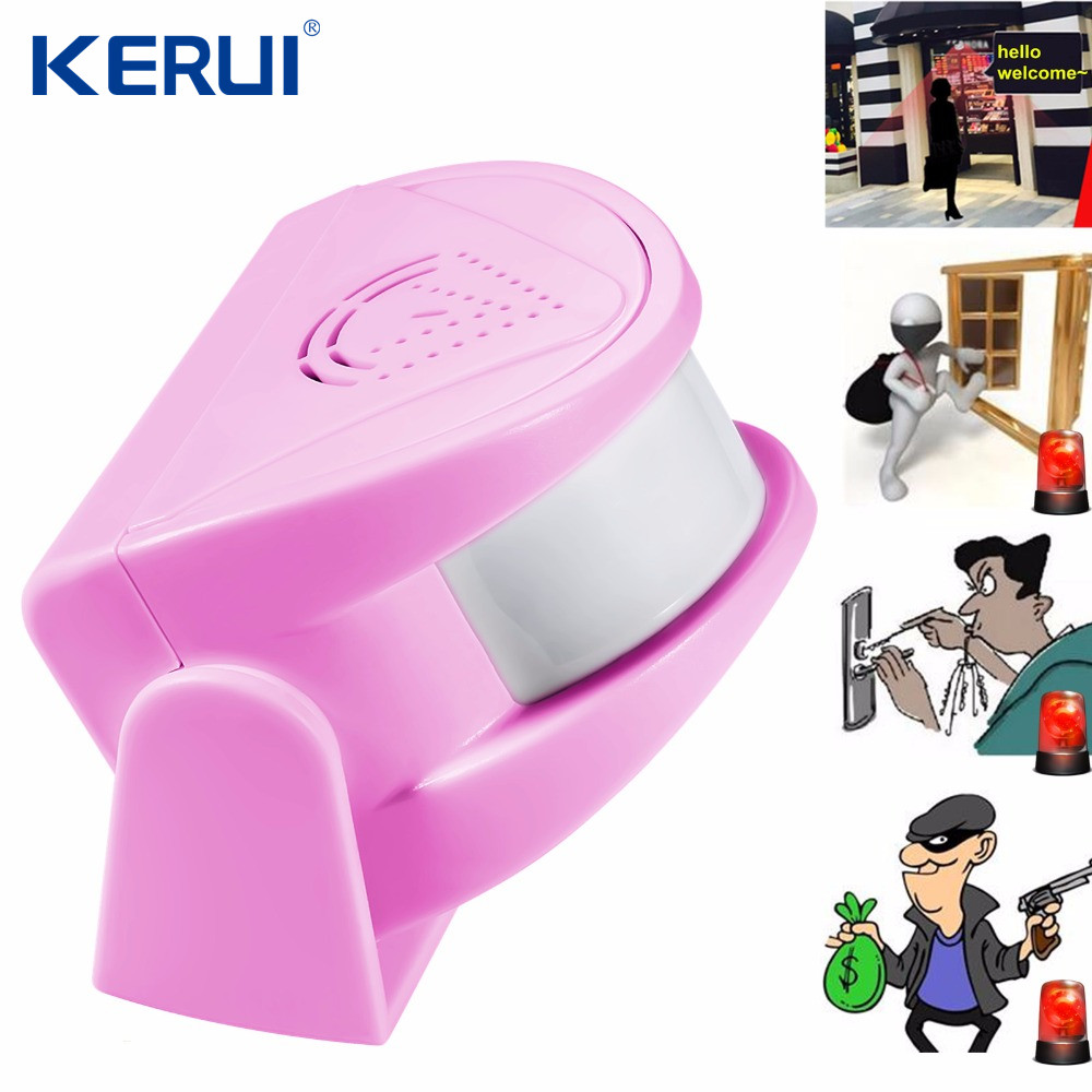 Kerui M5 Wireless Door Bell Infrared 8m Welcome Guest Alarm Chime Motion Sensor Detector with 32 Melodies for Shop Home Store(China (Mainland))