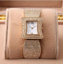 Ginebra relojes de acero lleno mujeres del vestido Rhinestone analógico de pulsera reloj Casual 2014 Ladies relojes Unisex de cuarzo