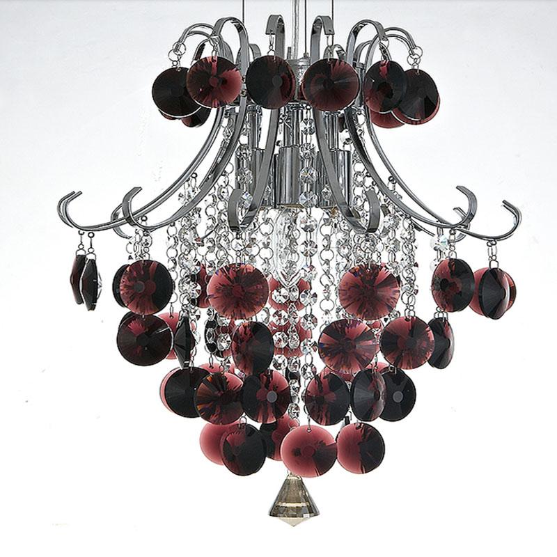 Free shipping Crystal pendant Light, luster burgundy lighting home<br><br>Aliexpress