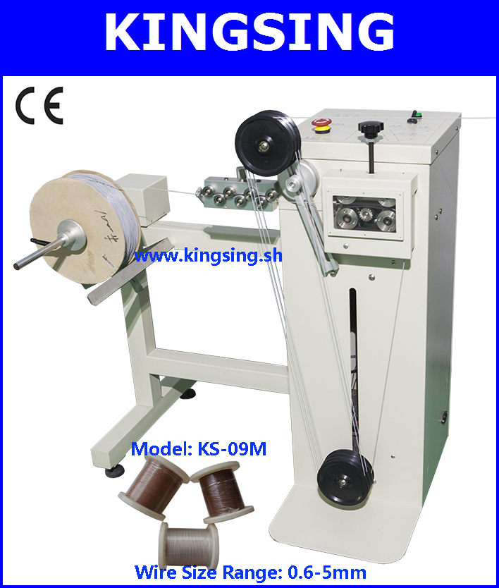 Automatic Wire & Cable Re-reeler, Reeling Device, Feeding Machine KS-09M-1+ Free Shipping by DHL air express (door to door)(China (Mainland))