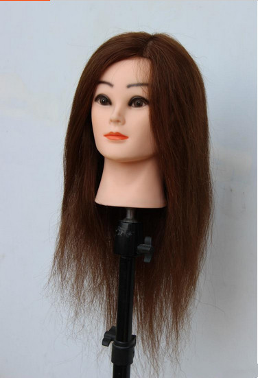 Free Shipping!! Top Level Training Wig Head Human Real Hair Head Mannequin Training Mannequin Hot Sale(China (Mainland))