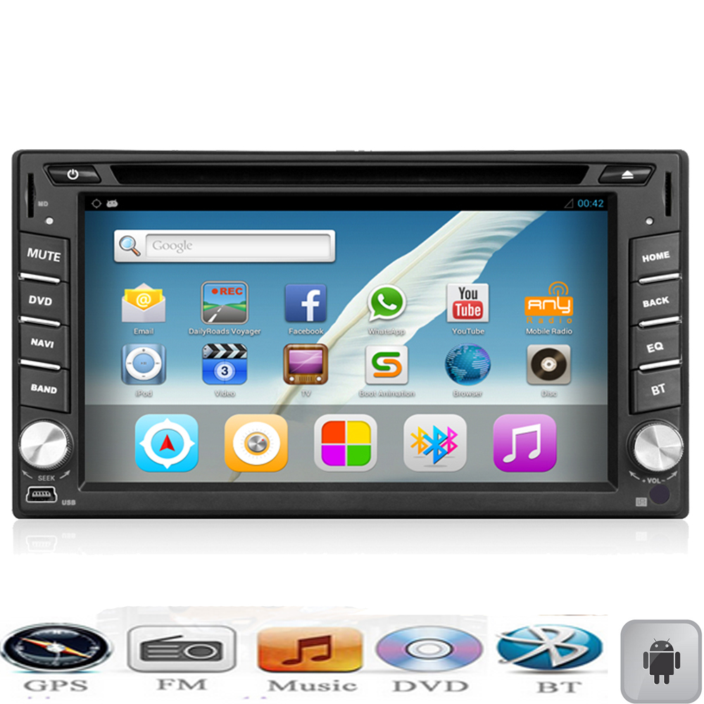 auto in dash double 2 din android car dvd player gps. Black Bedroom Furniture Sets. Home Design Ideas