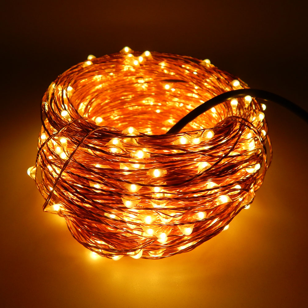 Christmas Holiday Wedding Decoration 50M 500leds Copper Wire LED String Light With Power adapter DC 12V 2A Fairy String Light(China (Mainland))