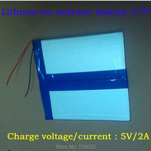 3.7v 6000mAH (polymer lithium ion battery) Li-ion battery for tablet pc 9.7 inch 10.1 inch speaker [35120125] Free Shipping(China (Mainland))