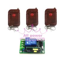 Беспроводная стена электропитание дистанционного переключатель 250 канал, Rf переключатель система приёмник и 3шт 1 ключи дистанционное управление 315 мГц / 433 мГц