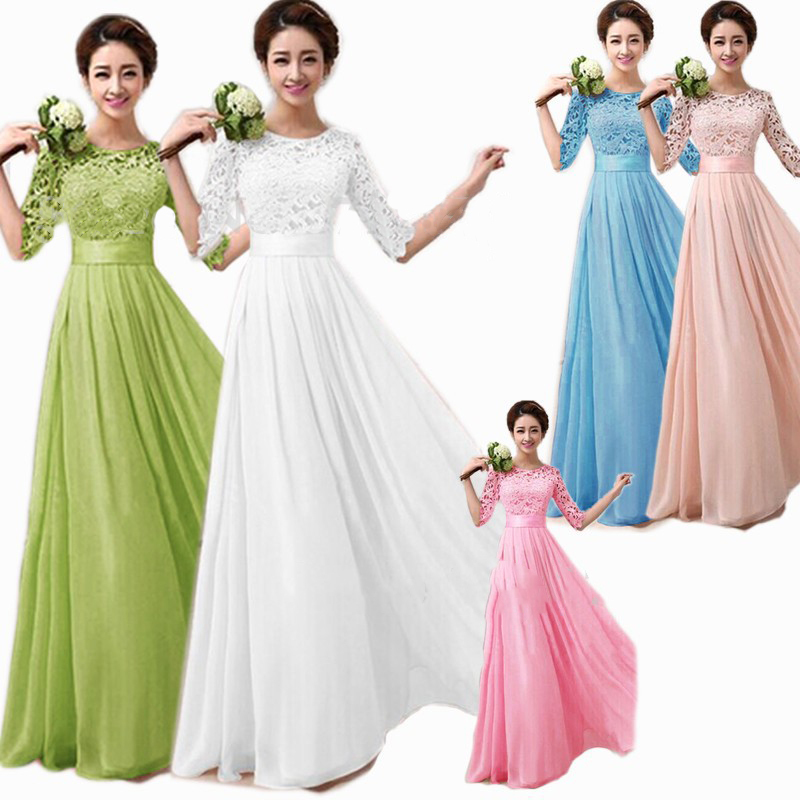 New coral long plus size wedding party dress vestidos de for Plus size coral dress for wedding