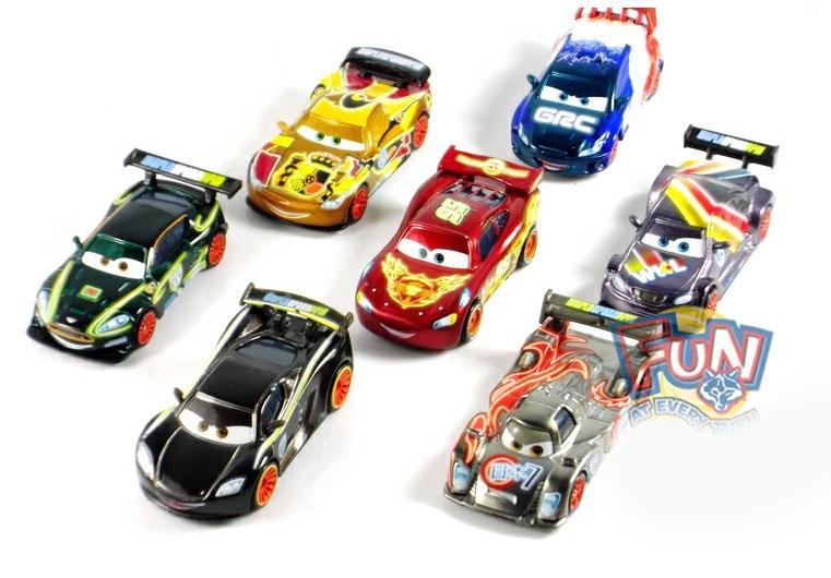 Diecast Metal Cars Cars 2 Neon Metallic Finish