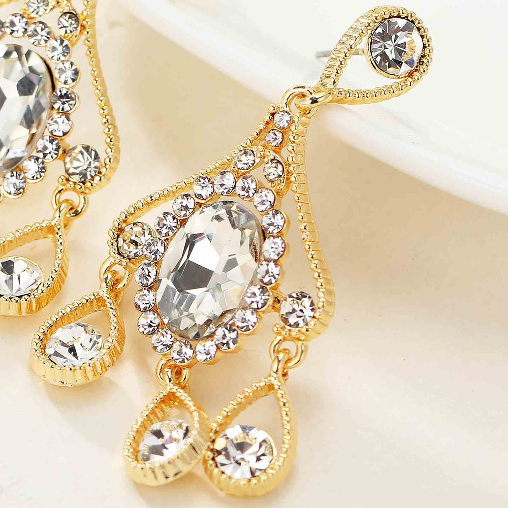 NEW Women Fashion Jewelry Style Earrings Handmade Glass Pendant sweet stud crystal Dangle Long earrings for women girls(China (Mainland))