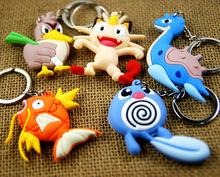 Buy double-face pokemon keychain cute key ring Pocket Monster key chain key holder anime PVC portachiavi chaveros llaveros souvenir for $1.80 in AliExpress store