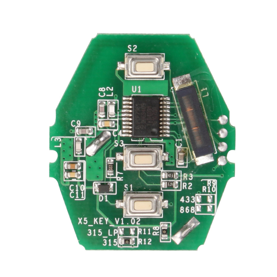 YH Key PCB CAS2 for 03-06 for BMW 3/5 Series (without Key Shell) 3 Frequency Available for Choose: 315/433/868MHZ Free Shipping(Hong Kong)