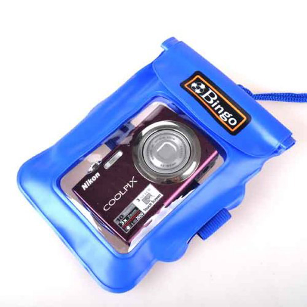 USA Delivery Blue Underwater Camera Waterproof Dry bag Case Jacket Diving(China (Mainland))